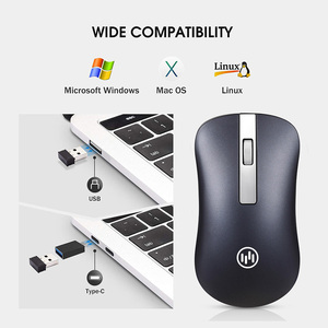 Image 5 - Bluetooth Wireless Mouse Silent Gaming Mouse Rechargeable Computer Mouse Wireless 2.4Ghz Ergonomic PC Mice USB Mause for Laptop