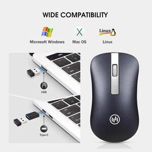 Image 5 - Mouse Wireless Bluetooth Mouse da gioco silenzioso Mouse ricaricabile per Computer Mouse Wireless ergonomico da 2.4Ghz Mouse per PC USB Mause per Laptop