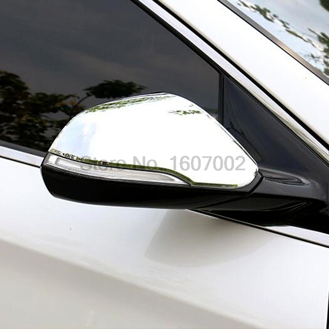 For 2017 2016 Hyundai Sonata Car Exterior Side Rearview Mirror Cover Protectors Molding Trim Auto Accessories