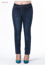 Женская Push Up Синий Джинсы Брюки Брюки Большой Размер Джинсовая джинсы Для Женщин Высокой Талией Карандаш Джинсы Femme 4XL 5XL 6XL 7XL