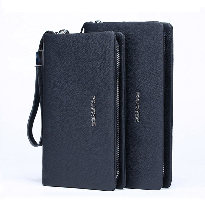 men wallets mobile genuine cow leather coin famous brand  long  hand bag fashion clutch bags