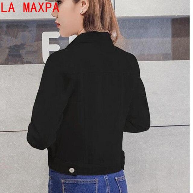 Summer Jacket For Women Fashion Autumn Long-sleeved Denim Shirt Korean Jacket  Stretch Short Denim Jacket Coat Chamarra Mujer 4