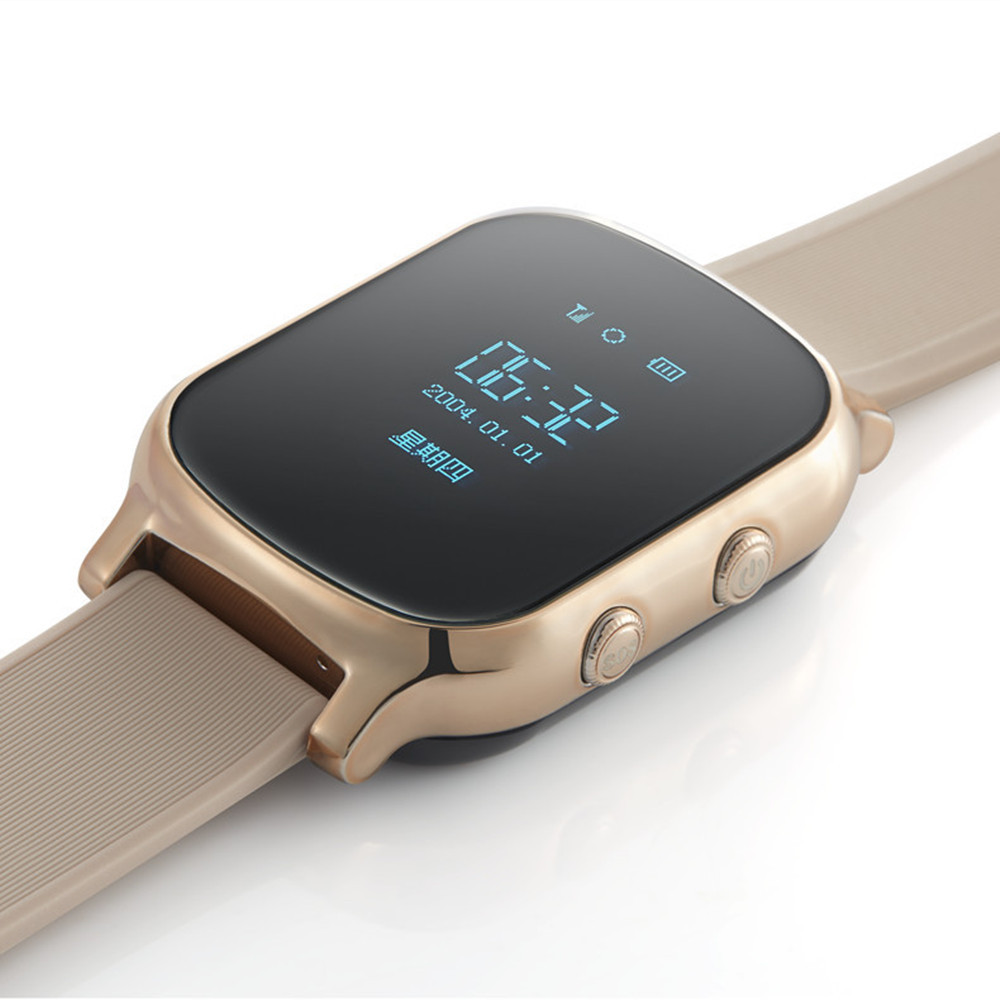 ФОТО Mini GPS watch T85 for kids child Old man GPS tracker smart bracelet sos button google map free apps gsm gps locator