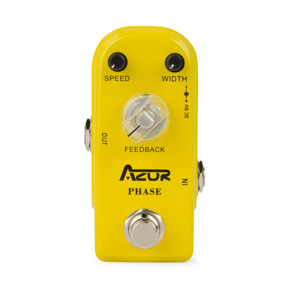AP-301 Phase Mini Guitar Effect Pedal Aluminum Alloy True Bypass aroma adr 3 dumbler amp simulator guitar effect pedal mini single pedals with true bypass aluminium alloy guitar accessories