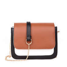 High Quality PU Leather Solid chain Women Crossbody Bags Fashion Color Women Shoulder Bags Color Shoulder Strap Ladies Bag