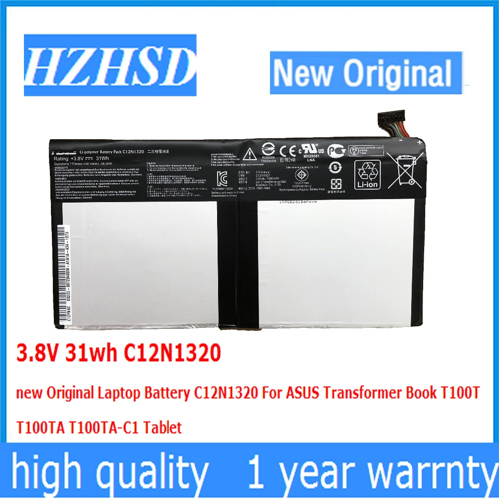 3.8V 31wh C12N1320 new Original Laptop Battery C12N1320 For ASUS Transformer Book T100T T100TA T100TA-C1
