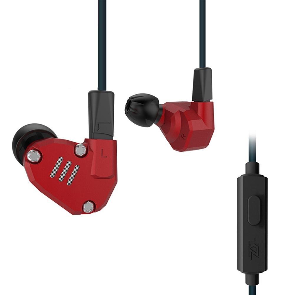 KZ ZS6 métal basse lourde HiFi son oreille-crochet dans l'oreille filaire écouteurs casque de haute qualité