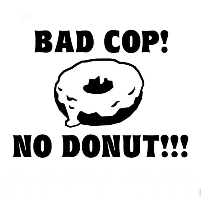 13 3cm9 7cm bad cop no donut sticker vinyl decal bumper window funny car
