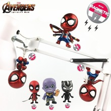 2018 Marvel Avengers 3 Infinite War Movie Thanos Iron Spider Man Deadpool Black Panther Q Cute Figure Toys Vinly Doll KO Cosbaby