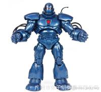 8 Inch Blue Iron Man Hero Marvel Action Figures PVC Doll Toys Model Boy Birthday Gifts New Arrival Free Shipping