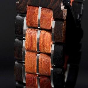Image 3 - レロジオ masculino 2020 ボボ鳥男性クォーツ腕時計木製腕時計時計ギフト木箱 V S19