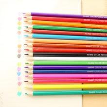 Crayons de couleur en bois Nature, 36 couleurs différentes, pack de papeterie, accessoires de bureau, fournitures scolaires F988