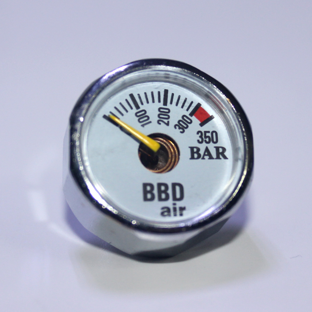 Купить с кэшбэком New Paintball Acessorios PCP Air Gun Airsoft Mini Gauge Manometer 350bar  300psi  1500psi  3000psi  5000psi  6000psi 1/8NPT
