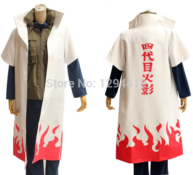 Hot Anime font b Naruto b font font b Cosplay b font Costumes Fourth Hokage Namikaze
