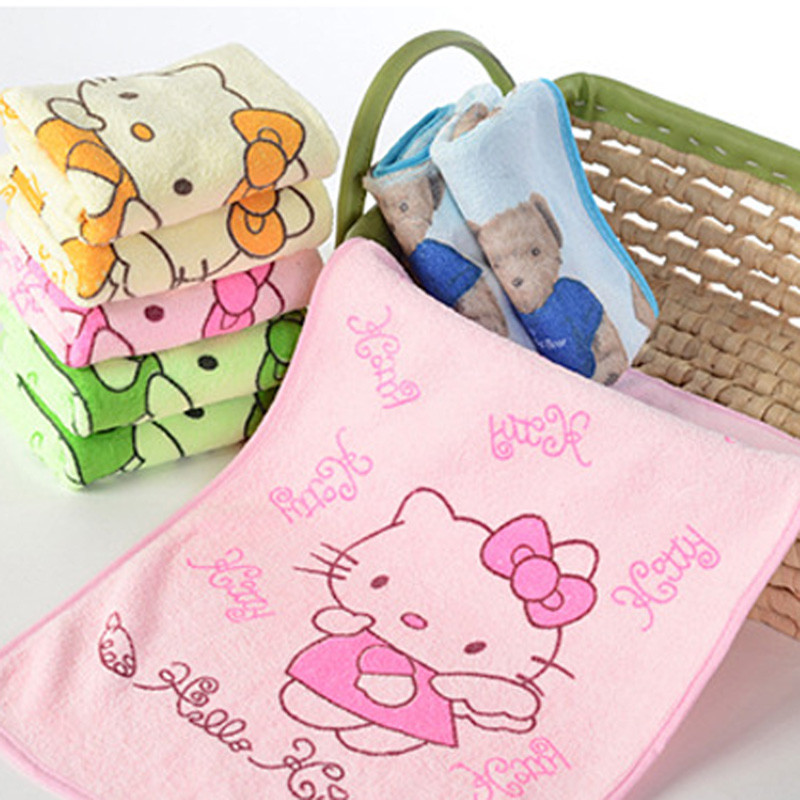 1PC Good Quality Hello Kitty Doraemon Multifunctional Use Baby Girl Towel Women Hand Towel 3C
