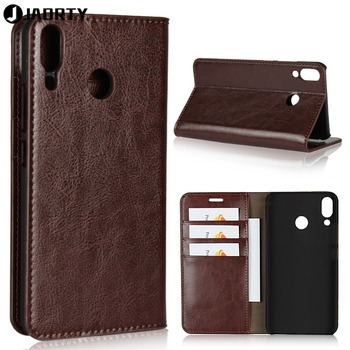 Luxury Genuine Leather Wallet Case Cover For Asus Zenfone 5z ZS620KL Phone Accessory Flip Cover Protective Case