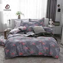 ParkShin Flamingos Bed Cover Set Home Bedding Set Nordic Bed Linen Set Duvet Cover Flat Sheet Pillowcases 3/4pcs Home Textiles set eponj home set