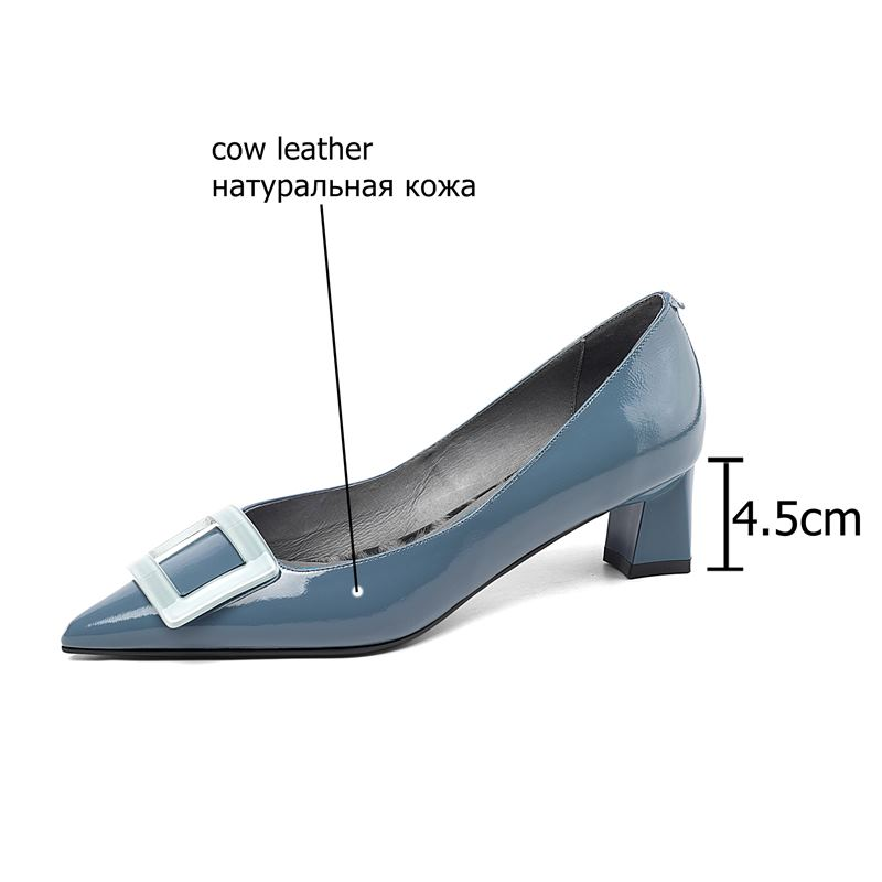 Image 5 - ALLBITEFO pinkycolor genuine leather high heels women shoes high quality women high heel shoes office ladies shoes women heels-in Women's Pumps from Shoes
