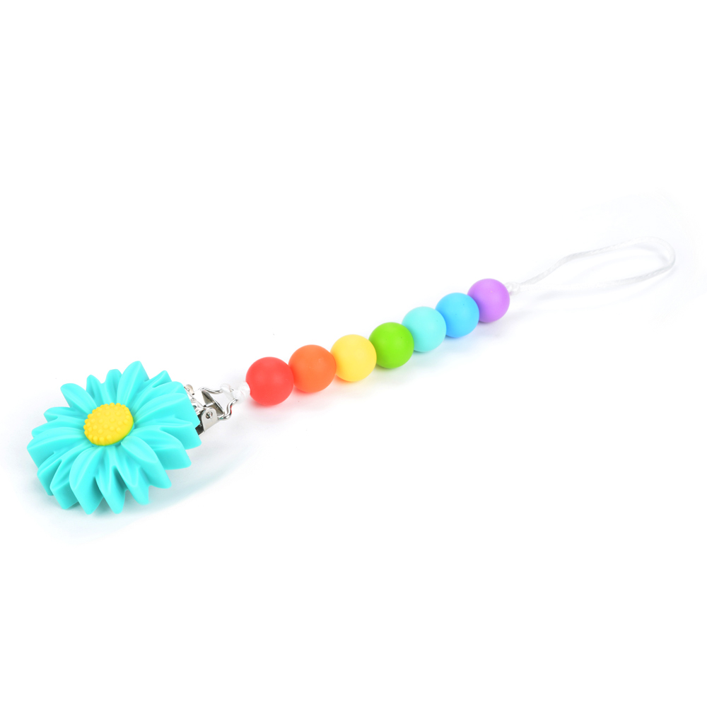 SuzSan Baby Chew Necklace Teething Toys BPA Free Silicone Cartoon Teether for Newborn Babies Gift Freezer Safe Infant Molar