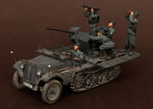 Scale Models 1 35 WW2 WWII 5 soldiers Crew Sd Kfz 104 fur 2cm FlaK 30