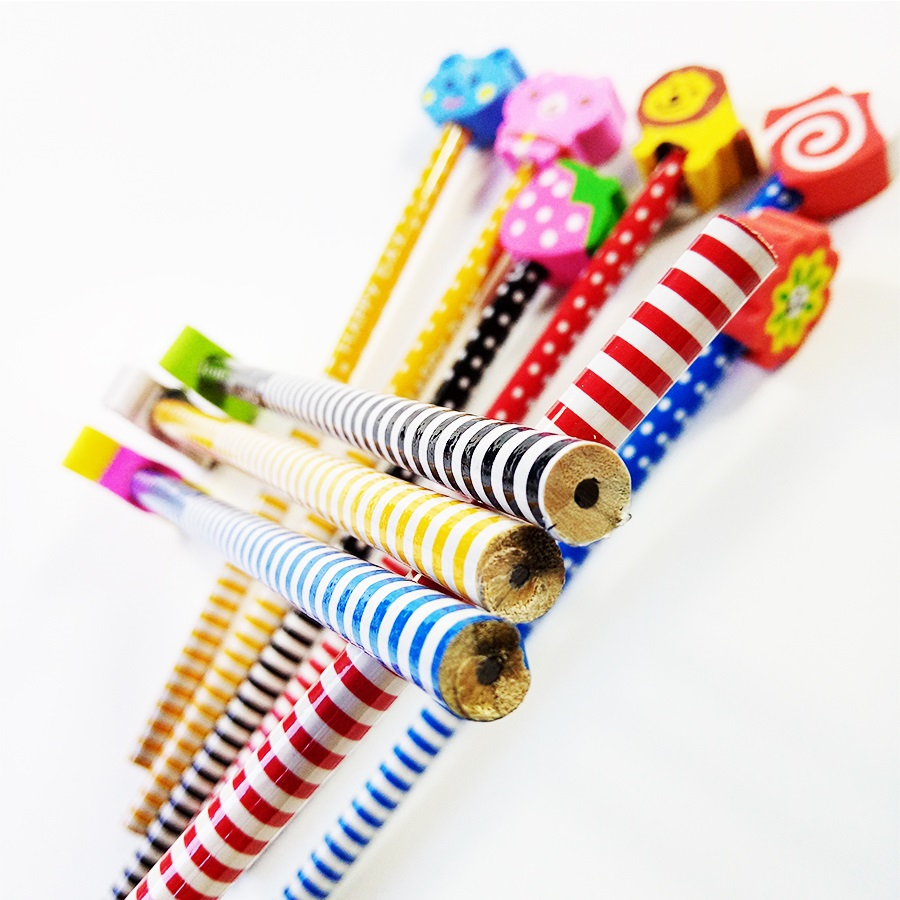 Image 5 - 50 Pcs/lot Wood Gift Pencil With Animals Eraser Head Christmas Gift For Kids Cute Fashion Party Favors Pencil School Suppliesgift pencilfashion pencilf pencil -