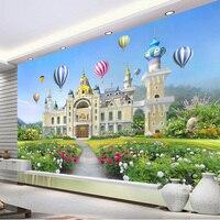 Personalizzare Qualsiasi Dimensione Foto Bella Ragazza Piccola Principessa Fantasy Castle Impermeabile Decorazione Murale Camera Dei Bambini Murale Carta Da Parati