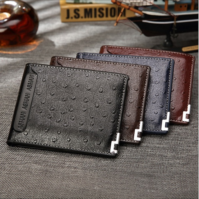 2016 new fashion men wallets Coin purse mens wallet male money purses Soft Card Case New classic soild pattern designer wallet