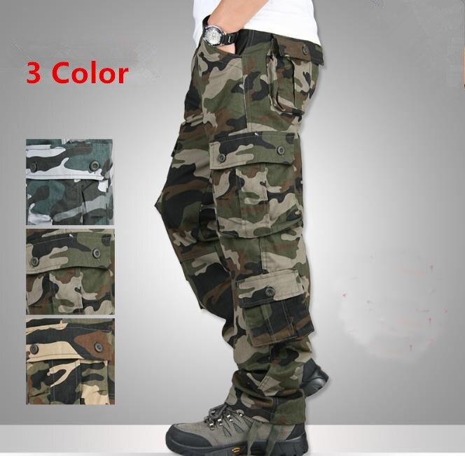 Camouflage Men's Cargo Pants Multifunction Outdoor Slacks Man Multi-pocket Cargo Trousers Plus Size 42 Men Casual Mens Bottoms