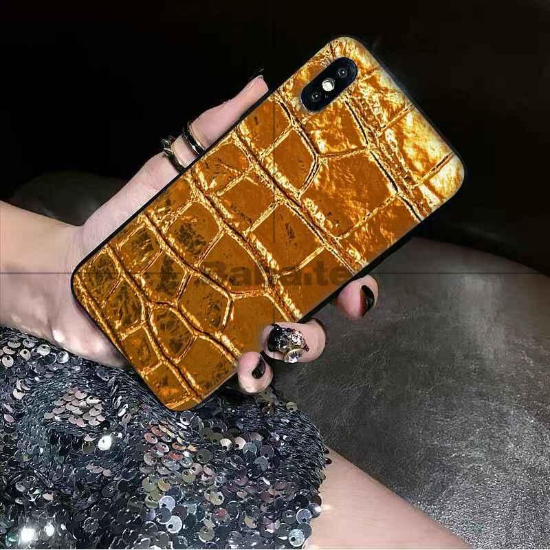 Babaite Tỳ Hưu Vàng Vàng Da Rắn TPU Mềm Dẻo Silicone Đen Ốp Lưng Điện Thoại Iphone 6 6S 6 Plus 7 7plus 8 8Plus X XS Max 5 5s XR