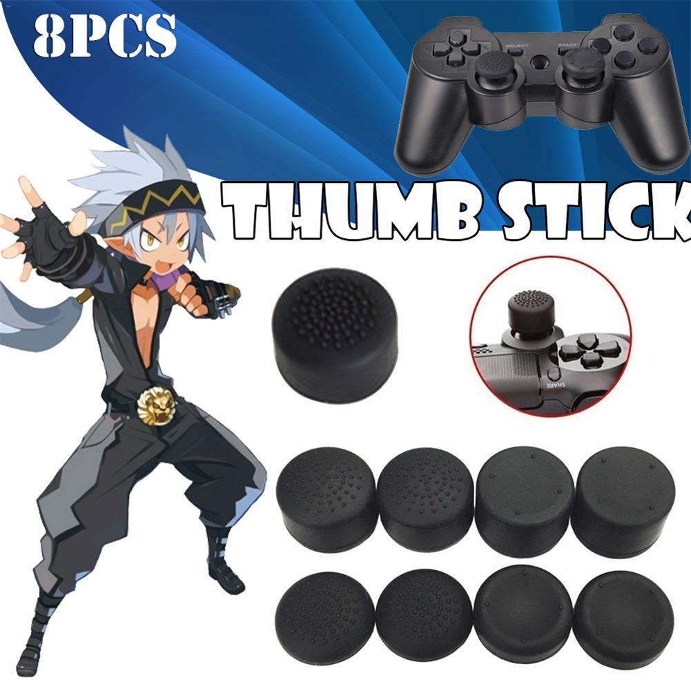 8PCS Playstation Video Games Controller Accessories Heighten Mushroom Headed Silicone Cap Thumb Stick for PS4 Xbox PS3 X360