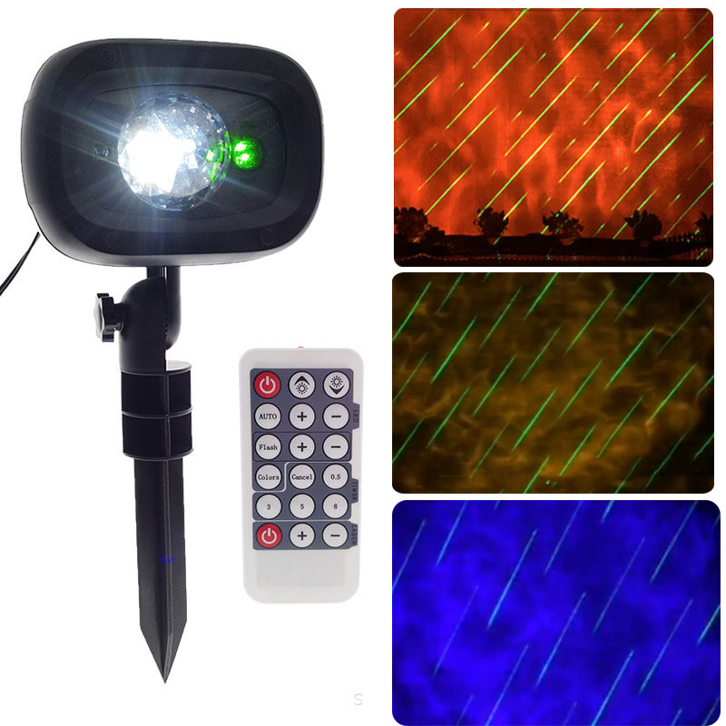 2 in 1 Christmas led projector light Water wave Meteor Shower Rain Stage effect light With