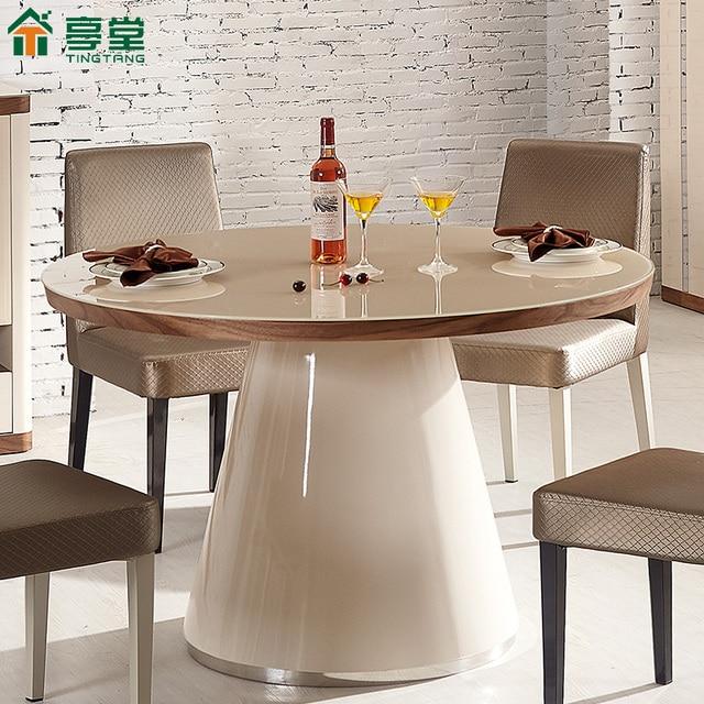 Ting Tong moderno minimalista mesa redonda de comedor redonda ...