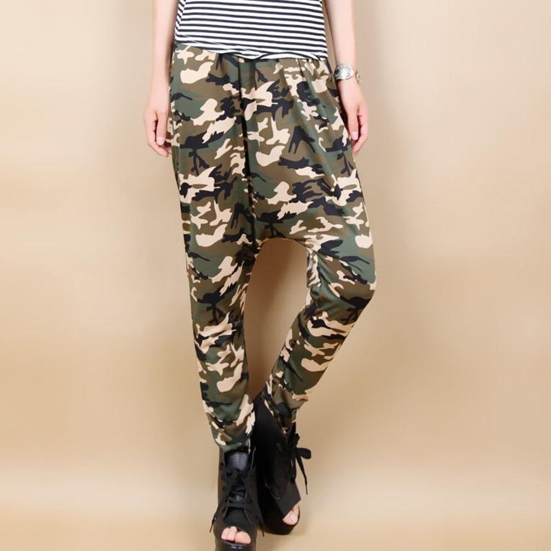 New Jazz harem women hip hop pants dance loose  plus size trousers personalized Camouflage big crotch sweatpants