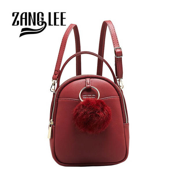 ZANG LEE Candy Color Small Mini Backpack Women School Bags for Girls  Adjustable Strap Woobies Cute Kawaii Handle Backpack Purse da6e0885334ce