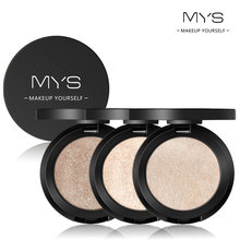 MYS Brand Face Makeup Powder 6 color Waterproof Minerals Shimmer Brightener Contour Glow Kit Bronzer Highlighter Makeup Palettes(China)