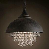 Vintage Pendant Lamps Ameriacancountry Crystal Loft Bar Restaurant Pendant Light Dinning Room Cafe Decoration