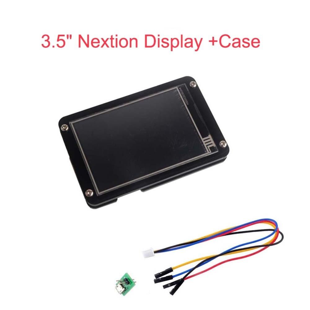 Affichage Nextion amélioré 3.5 pouces 3.5 UART HMI Module d'affichage tactile écran LCD + étui en acrylique noir pour Arduino Raspberry Pi