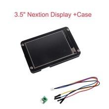 """Nextion Módulo de pantalla táctil UART HMI, pantalla mejorada de 3,5 pulgadas, 3,5 """", pantalla LCD + carcasa de acrílico negro para Arduino Raspberry Pi"""
