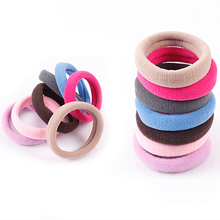 Hot 10Pcs Seamless Elastic Rope Hairband Hair Band Ponytail Holder Bracelets Scrunchie  77IE