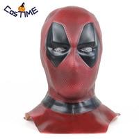 2019 Deadpool 2 Mask Deluxe Adult Deadpool Cosplay Full Face Mask Hood Helmet Marvel Superhero Halloween Costume Accessories