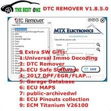 9 Экстра ECU SW MTX DTC Remover 1.8.5.0 с Keygen ECU чип тюнинг код ошибки удалитель ECU Remap программист для KESS KTAG FGTECH