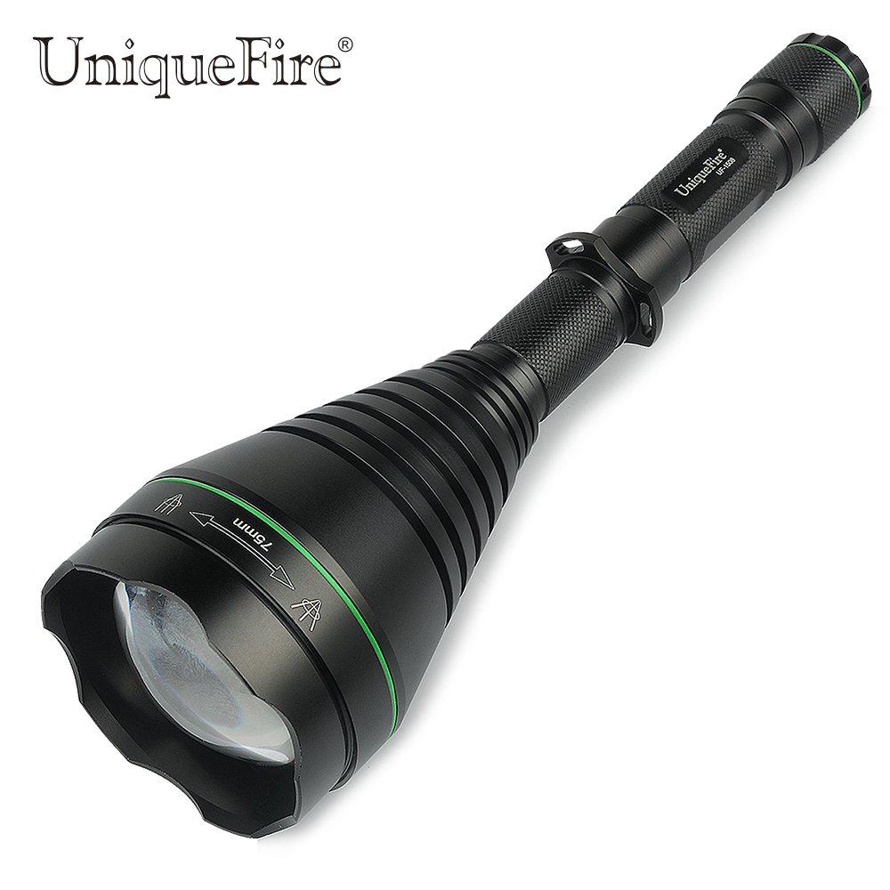 UniqueFire 1508 XPE 75mm Lens Led Hunting Light Green/Red/White Light Flashlight For Outdoor Camping Hunting Free Shipping uniquefire 1508 zoomable led flashlight 3 modetorch 67mm lens cree xpe hunting torch green red white for outdoor camping hunting