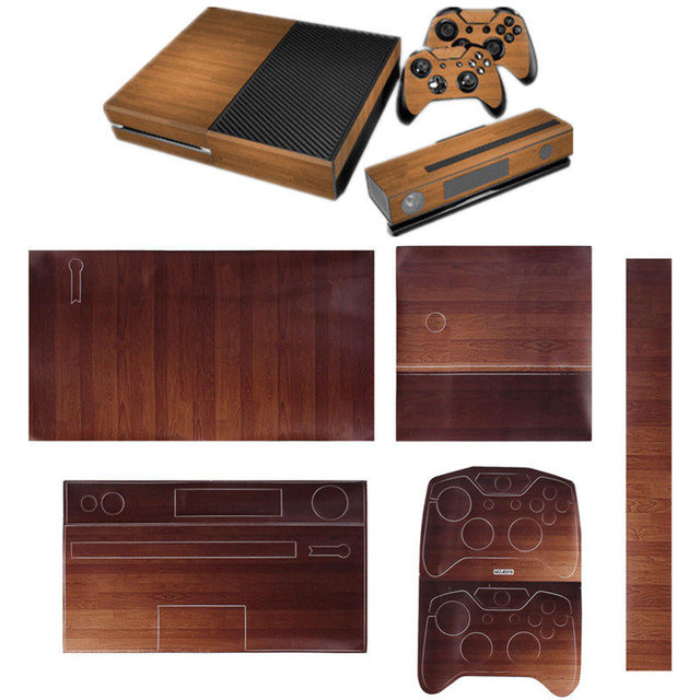 New arrivel skin sticker cover wood textured console free controller vinyl decal sticker covers color
