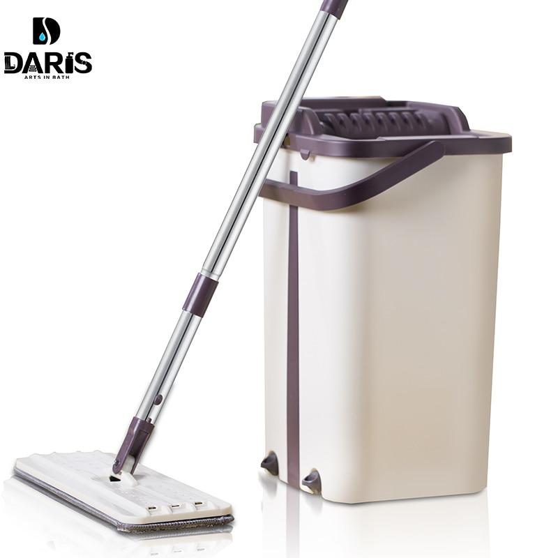 Drop Shipping Mop ถังเปลี่ยนผ้าซับ Magic ทำความสะอาดบีบ Flat Mops ชั้นทำความสะอาด-ใน ไม้ถู จาก บ้านและสวน บน AliExpress - 11.11_สิบเอ็ด สิบเอ็ดวันคนโสด 1