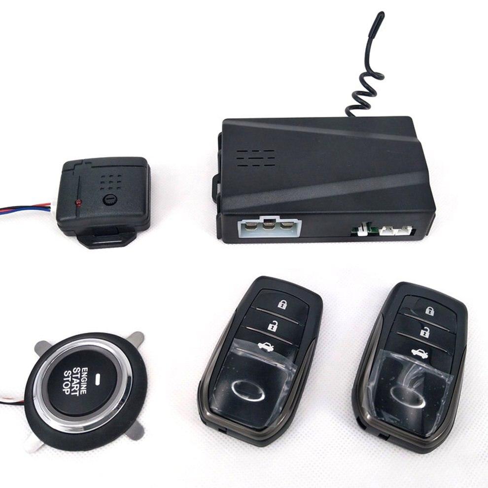 Partol Smart Key PKE alarme de voiture passif sans clé système de voiture démarrage moteur arrêt bouton poussoir démarreur à distance capteur de choc X5 - 5