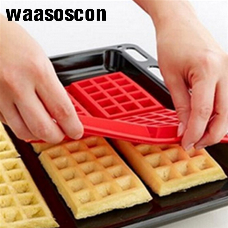 Waffle Makers Silicone Cake Mould Waffle Mould Silicone <font><b>Bakeware</b></font> Set Nonstick Silicone Baking Mold Set Muffin For Kids