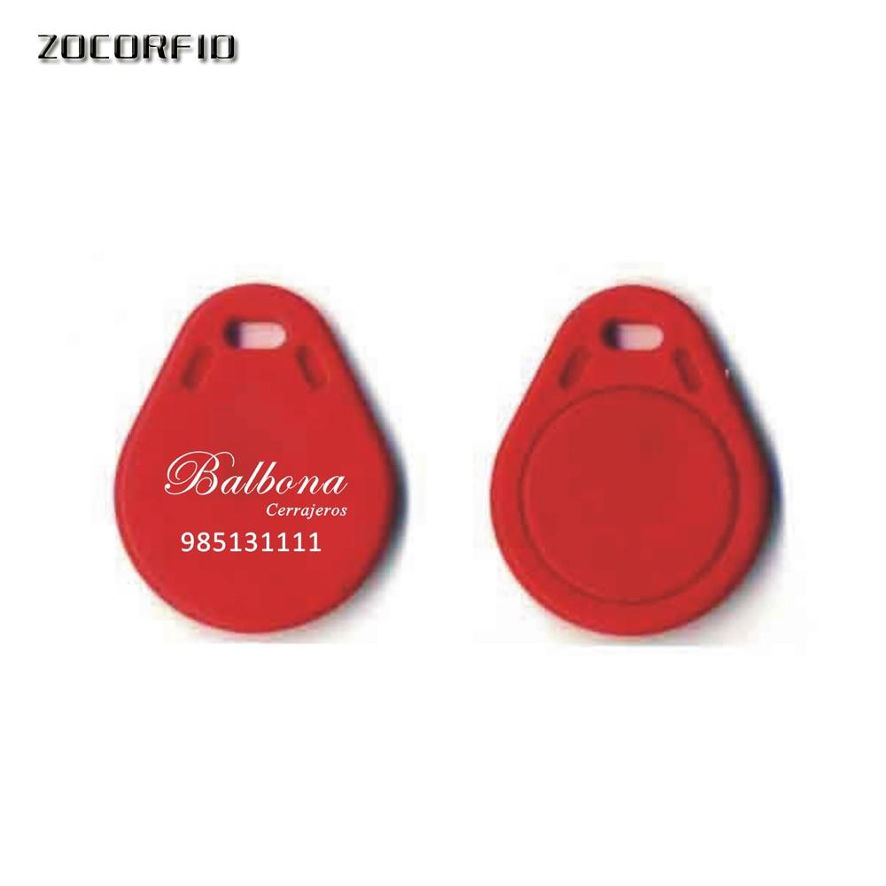 100pcs/Lot Custom Printing Logo T5577/T5567/T5557/ 125KHZ Rewritable RFID Keyfobs Key Tags Copy Clone Keyfob Card