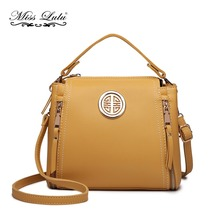 Miss Lulu Crossbody Bags for Women PU Leather Fashion Messenger Shoulder Bag  Ladies Small Satchel Bag e28ed902374c1