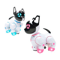 Cute Kids Intelligent Dog Robot RC Electric Remote Control Pet Dogs Dancing Light Walk Multifunctional Toys18mar21