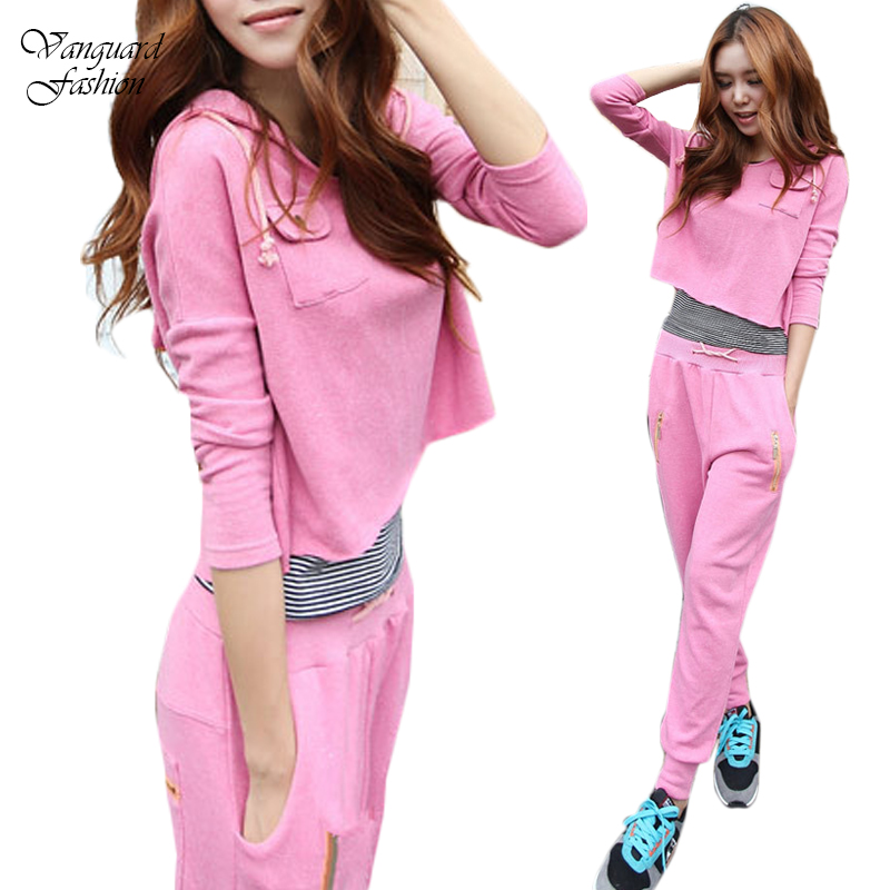Love Vs Pink Jogging Sweat Suits Blue Active Sport Hoodie Sweatshirt For Women Tracksuits Sport ...